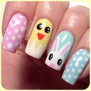 cute nail art design easter