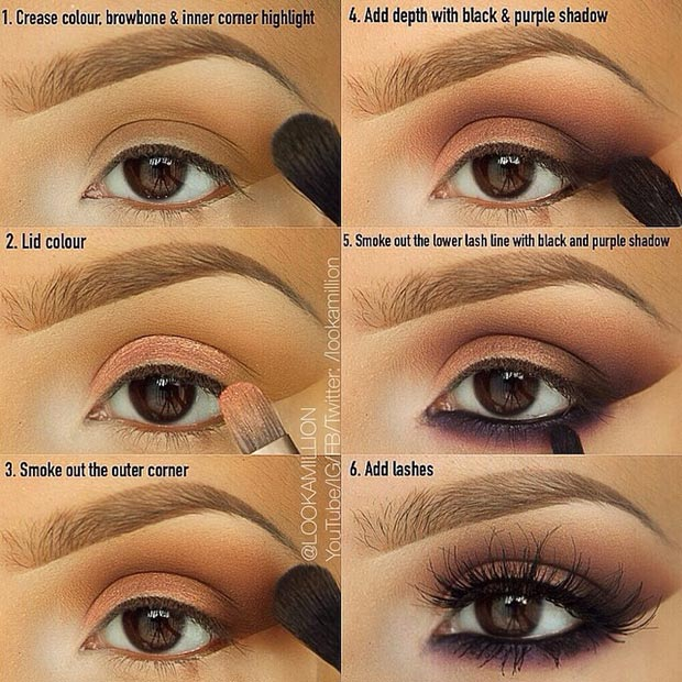 Brown and Purple Smokey Eye Pictorial