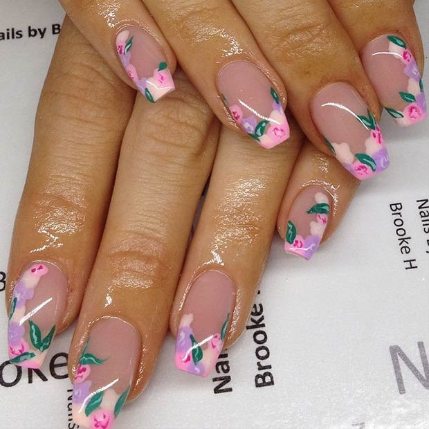 35 French Tip Nail Designs For Spring