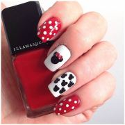 super cute disney nail art design