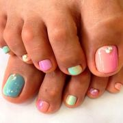 adorable toe nail design