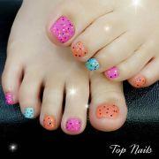adorable toe nail design