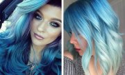 blue hair color ideas daring