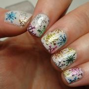 cute winter-inspired nail art