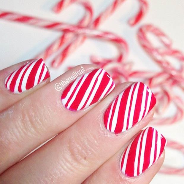 Candy Cane Nails Insram Thenailtrail