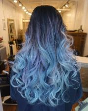 bold and beautiful blue ombre