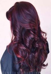 amazing dark red hair color