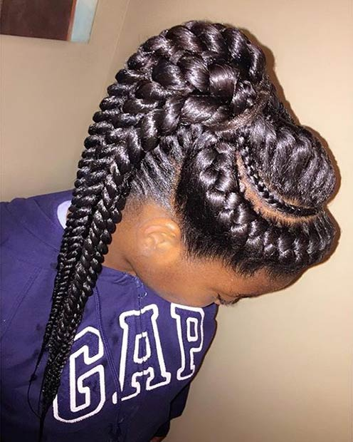 31 Goddess Braids Hairstyles For Black Women Page 2 Of 3 StayGlam