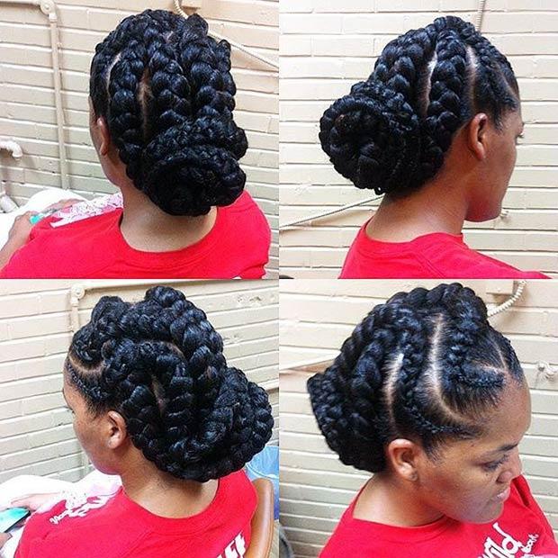 31 Goddess Braids Hairstyles For Black Women StayGlam