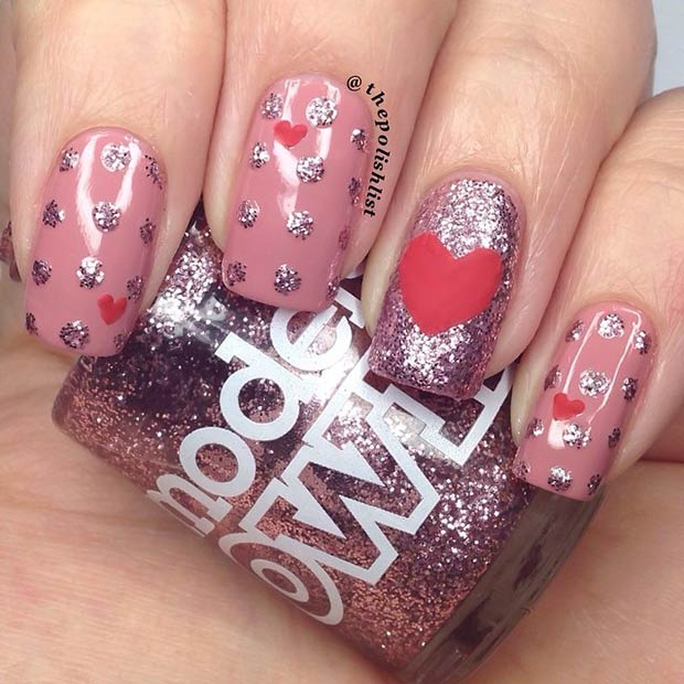 Easy Heart Nail Design