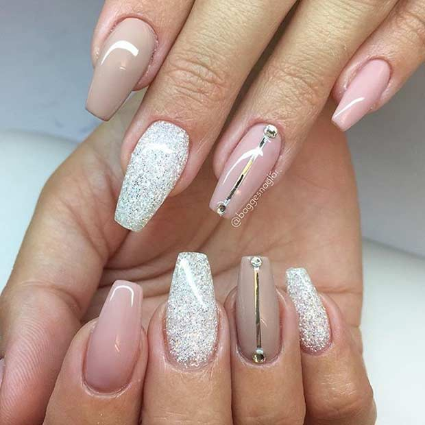 31 Trendy Nail Art Ideas for Coffin Nails  Page 3 of 3  StayGlam
