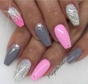 trendy nail art ideas coffin