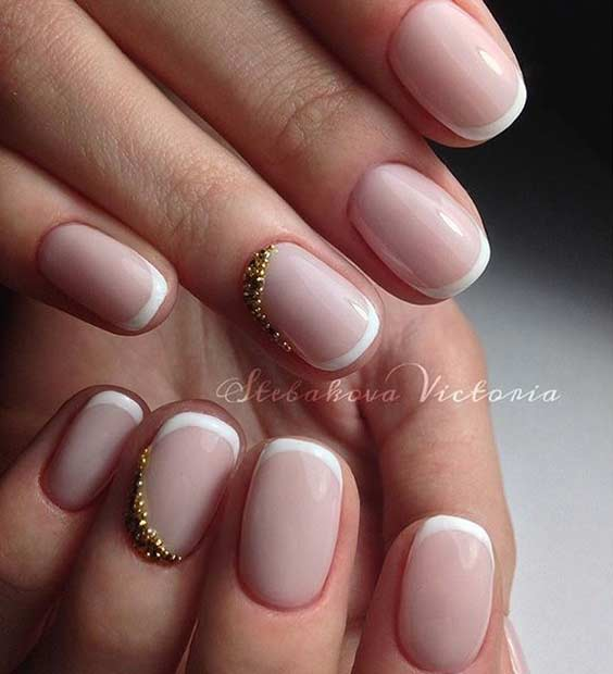 White French Tip Nail Design
