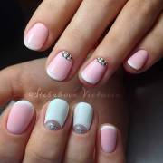 cool french tip nail design