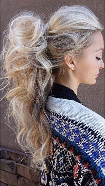 Super Long High Ponytail