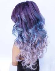 amazing blue and purple hair