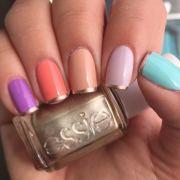 bright summer nail design