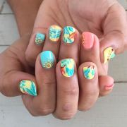 bright summer nail design