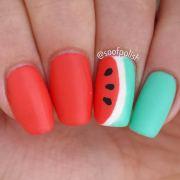 cute watermelon nail ideas