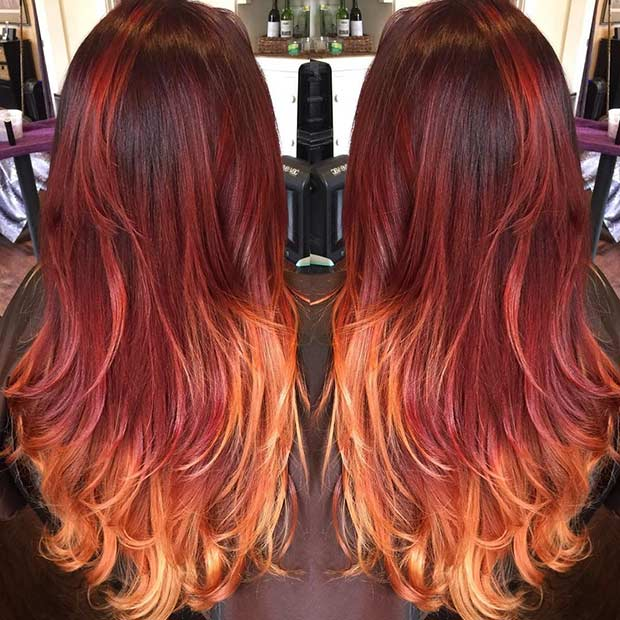 31 Best Red Ombre Hair Color Ideas