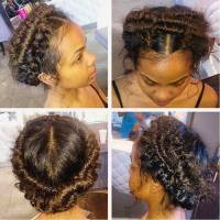 Fishtail Braid Updo Hairstyles For Black Hair - HairStyles
