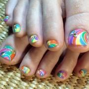 toe nail design scream