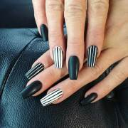 edgy black nail design stayglam