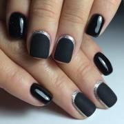 edgy black nail design page