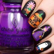 creative halloween nail art