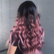 trendy rose gold hair color
