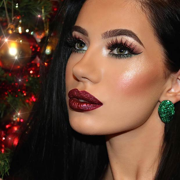 23 Christmas Makeup Ideas To Copy This Season Crazyforus