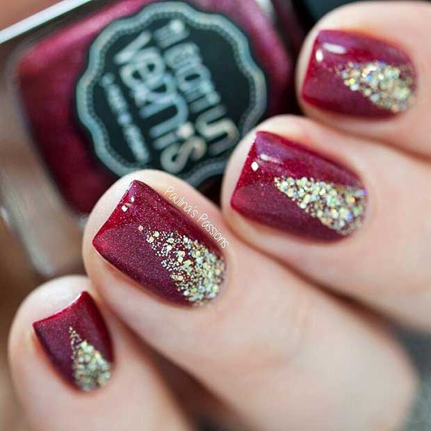 Lou Is Perfectly Polished Christmas Nails Christmas Trees: 29 Easy Christmas And Winter Nail Ideas