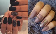 cool matte nail design copy