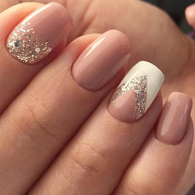 Elegant Silver Nails For Prom: 13 More Elegant Nail Art Designs For Prom 2017