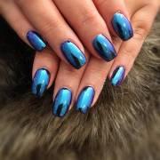 trendy metallic nail design