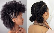 updo hairstyles natural black