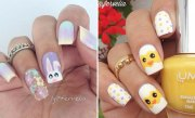 easy and simple easter nail