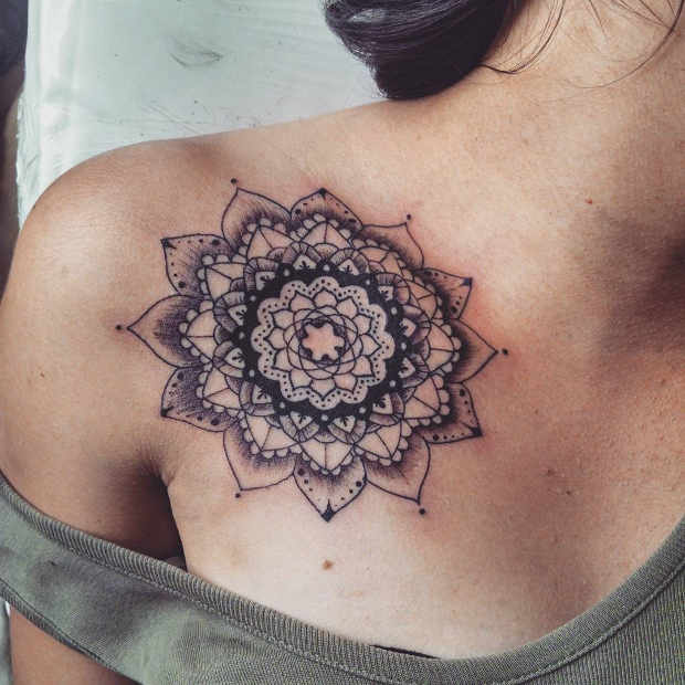Collarbone Flower Tattoo Women