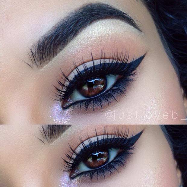 Easy Eye Makeup Idea for Brown Eyes