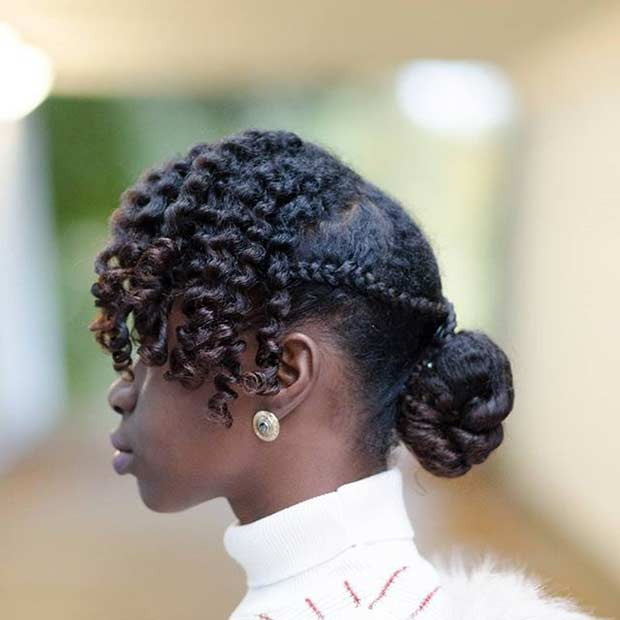 21 Chic and Easy Updo Hairstyles for Natural Hair  StayGlam