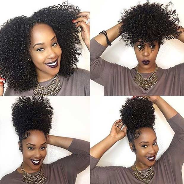 21 Chic And Easy Updo Hairstyles For Natural Hair Page 2 Of 2