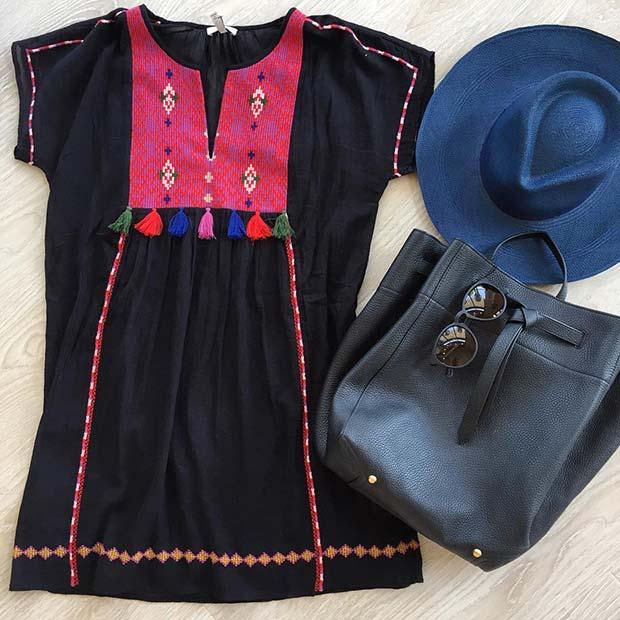 Boho Embroidered Outfit Idea