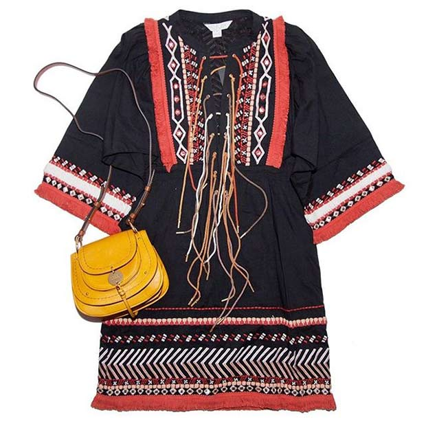Embroidered Tunic for Spring and Summer