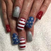 funky and fun 4th of july nail