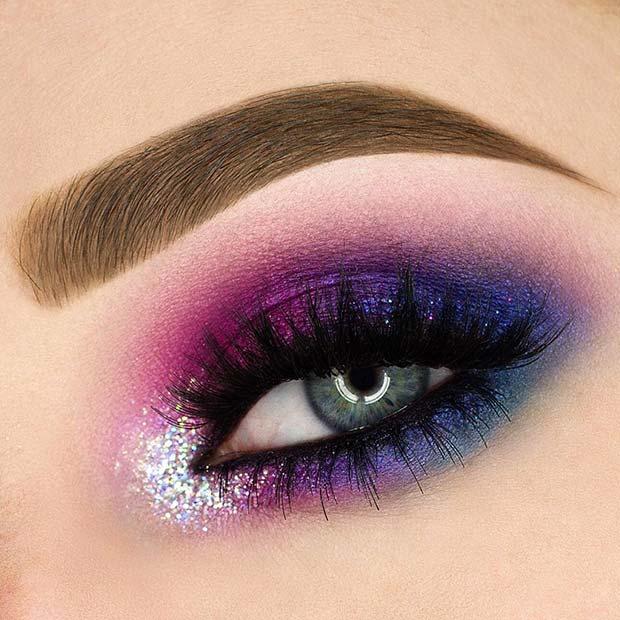 Pink and Purple Smokey Eye