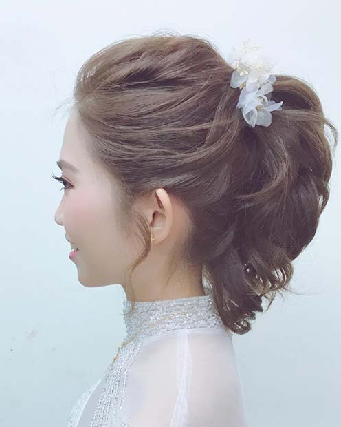 Short Curly Ponytail