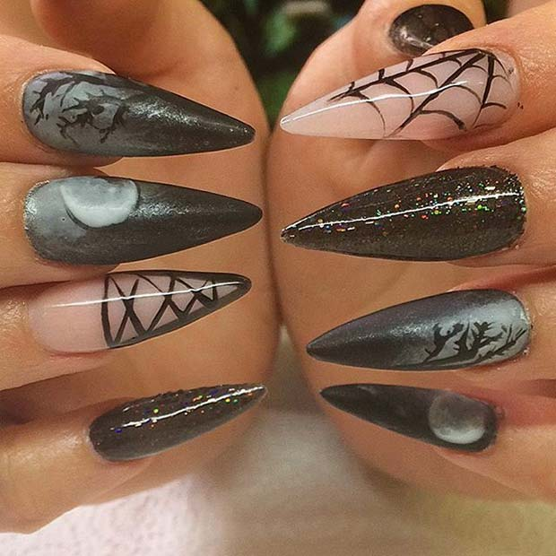 11 More Creepy and Creative Halloween Nail Designs - crazyforus