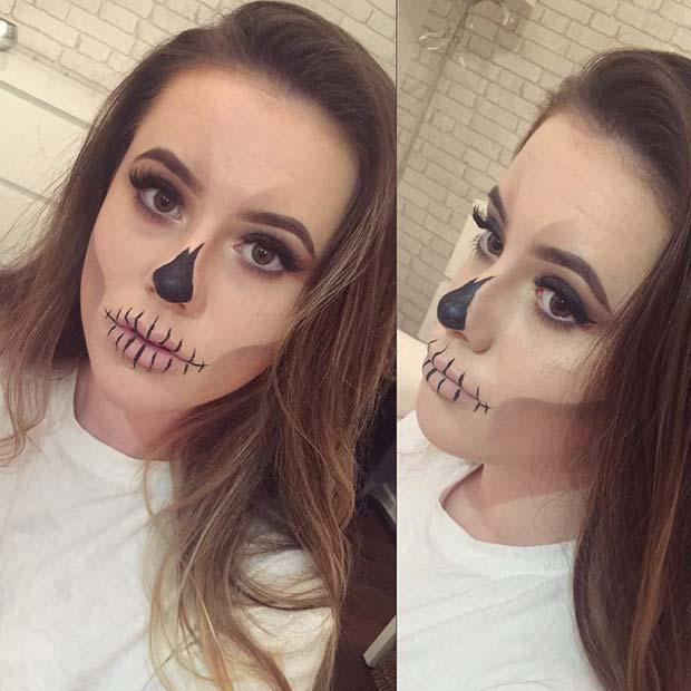 Spooky Skeleton Makeup