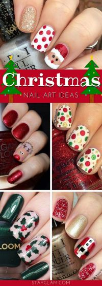 29 Festive Christmas Nail Art Ideas | StayGlam