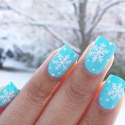 latest winter inspired nail